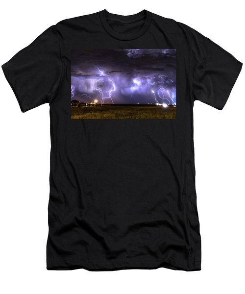 Purple Rain Men's T-Shirt (Athletic Fit)
