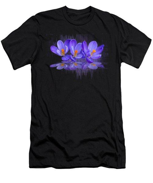 Purple Rain Triple Men's T-Shirt (Athletic Fit)