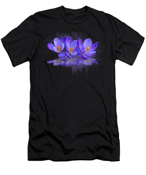 Purple Rain Triple Men's T-Shirt (Athletic Fit)