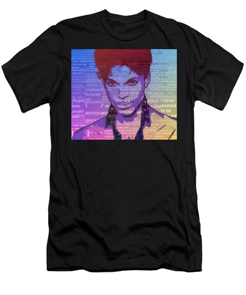 Purple Rain Typography Men's T-Shirt (Athletic Fit)