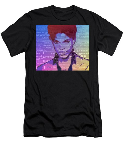 Purple Rain Typography Men's T-Shirt (Athletic Fit)