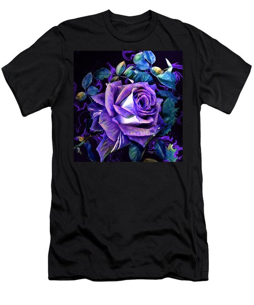 Purple Rose Bud Painting Men's T-Shirt (Athletic Fit)