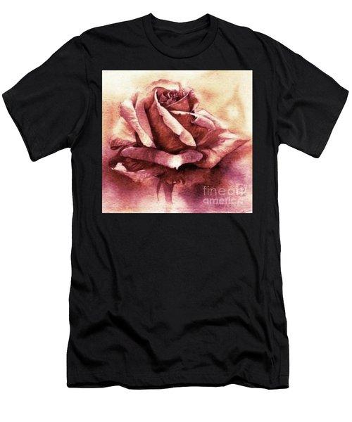 Purple Rose Men's T-Shirt (Athletic Fit)