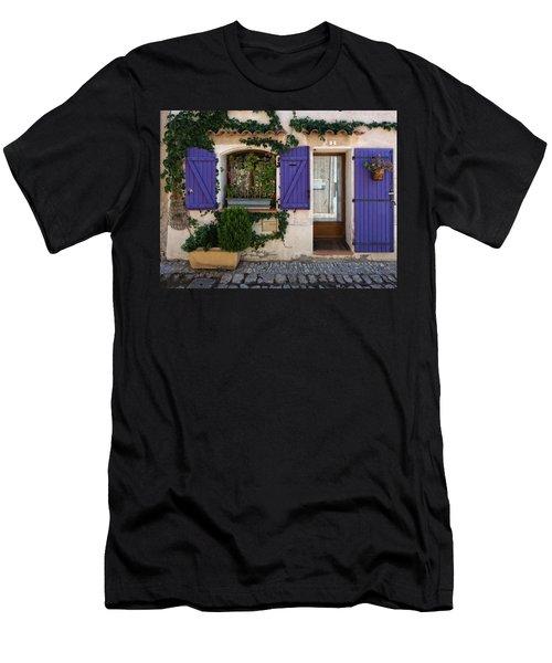 Purple Shutters Men's T-Shirt (Athletic Fit)