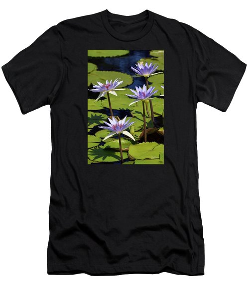 Purple Sparks Men's T-Shirt (Slim Fit) by Deborah  Crew-Johnson