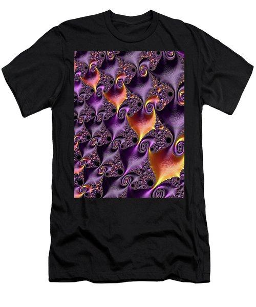 Purple Spirals Men's T-Shirt (Slim Fit) by Rajiv Chopra