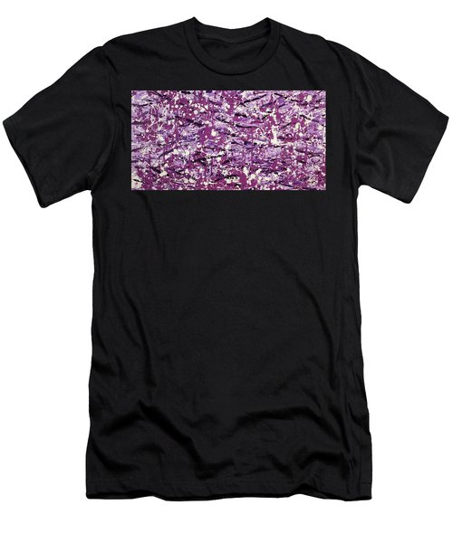 Purple Splatter Men's T-Shirt (Athletic Fit)