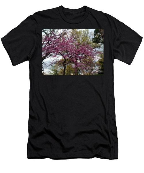 Purple Spring Trees Men's T-Shirt (Athletic Fit)