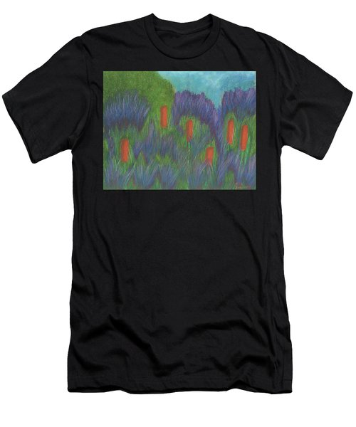 Purple Strife And Cattails Men's T-Shirt (Athletic Fit)