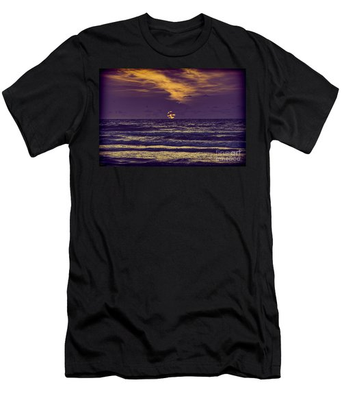 Purple Sunrise Men's T-Shirt (Athletic Fit)