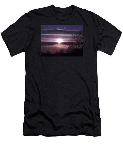 Men's T-Shirt (Slim Fit) featuring the photograph Purple Sunrise by Teresa Schomig