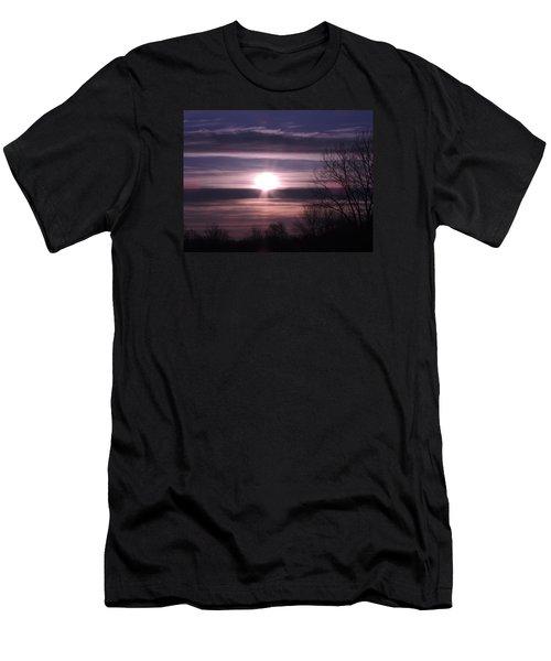 Purple Sunrise Men's T-Shirt (Slim Fit) by Teresa Schomig