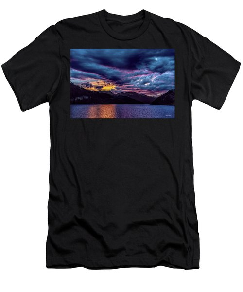 Purple Sunset At Summit Cove Men's T-Shirt (Athletic Fit)