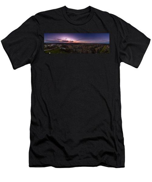Purple Sunset Men's T-Shirt (Athletic Fit)