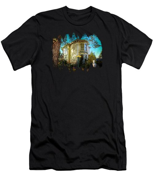 House With The Purple Swing Men's T-Shirt (Slim Fit) by Thom Zehrfeld