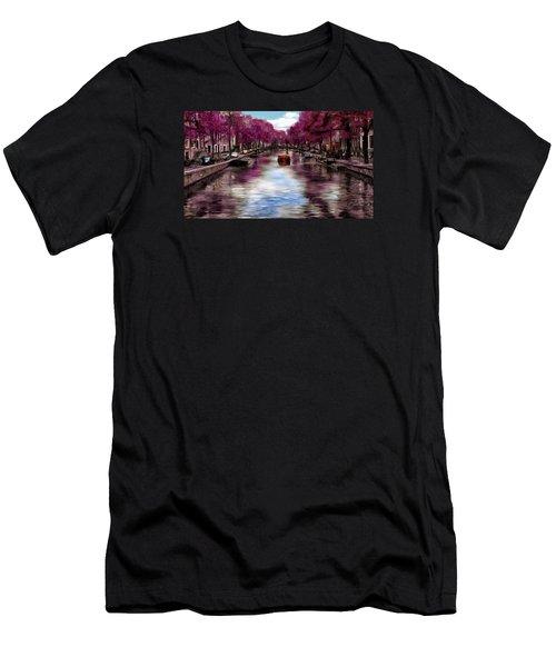 Purple Water Men's T-Shirt (Athletic Fit)