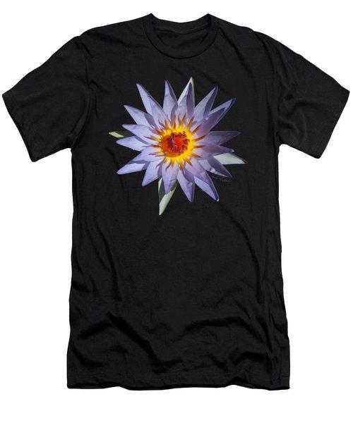 Purple Water Lily Transparent Men's T-Shirt (Athletic Fit)