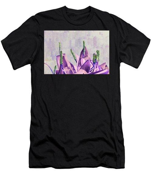Purple Water Plant Men's T-Shirt (Athletic Fit)