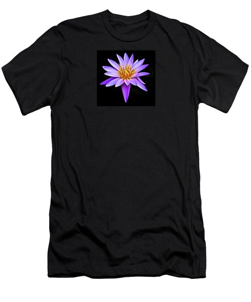 Purple Waterlily With Golden Heart Men's T-Shirt (Slim Fit) by Venetia Featherstone-Witty
