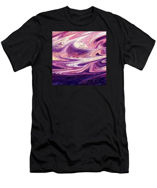 Purple Wind Abstract  Men's T-Shirt (Athletic Fit)