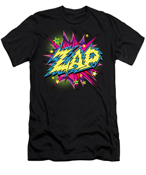 Purple Zap Men's T-Shirt (Athletic Fit)
