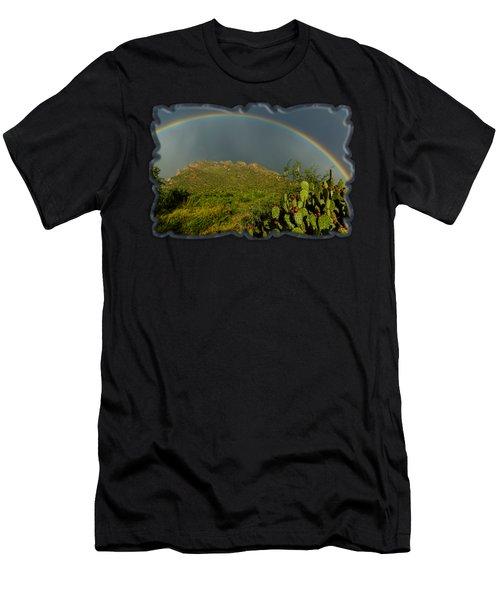 Pusch Ridge Rainbow H38 Men's T-Shirt (Athletic Fit)
