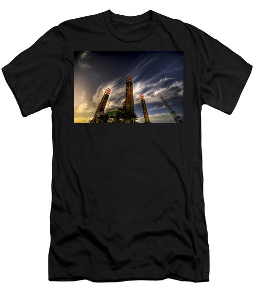 Men's T-Shirt (Slim Fit) featuring the photograph Pylons by Wayne Sherriff