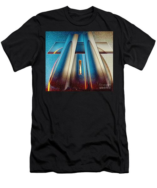 Pyramid Men's T-Shirt (Slim Fit) by Belinda Threeths