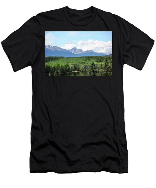 Men's T-Shirt (Slim Fit) featuring the photograph Pyramid Island - Jasper Ab. by Ryan Crouse