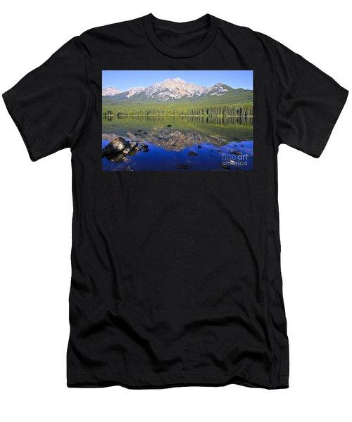 Pyramid Lake Reflection Men's T-Shirt (Athletic Fit)