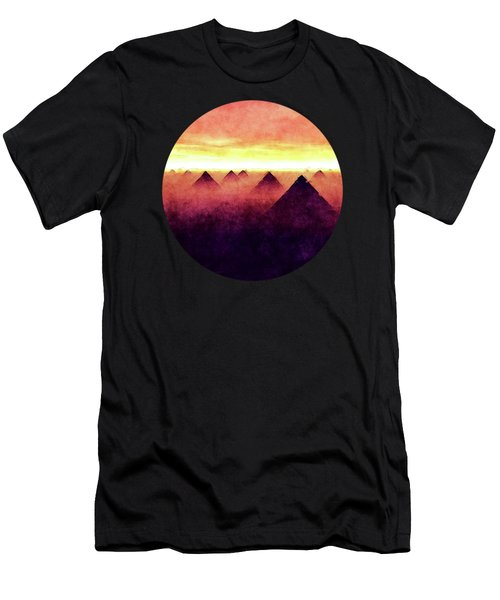 Pyramids At Sunrise Men's T-Shirt (Athletic Fit)