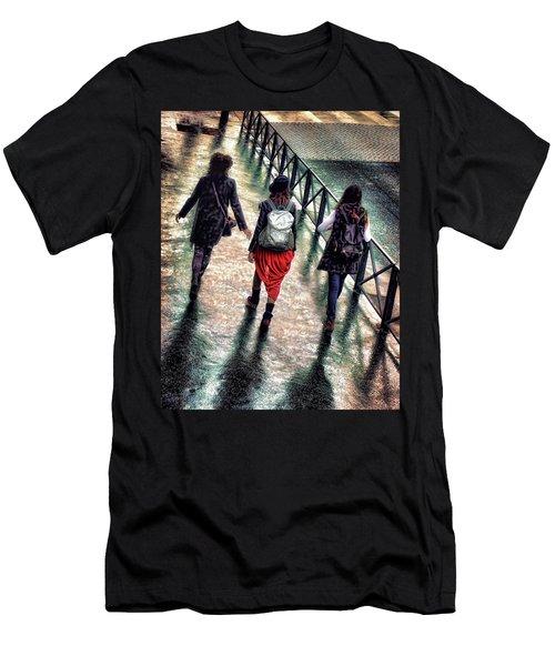 Men's T-Shirt (Slim Fit) featuring the photograph Quai Des Tuileries by Jim Hill