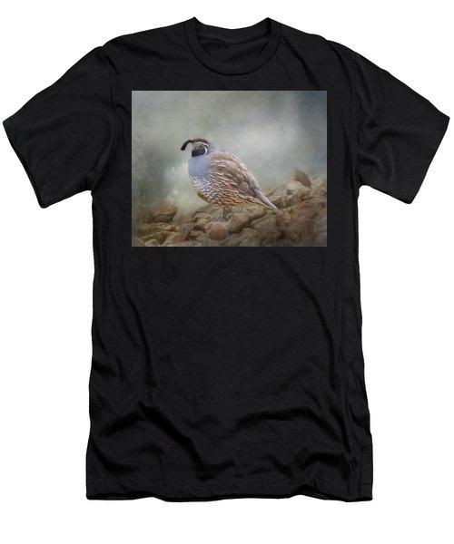 Quail On The Rocks Men's T-Shirt (Athletic Fit)