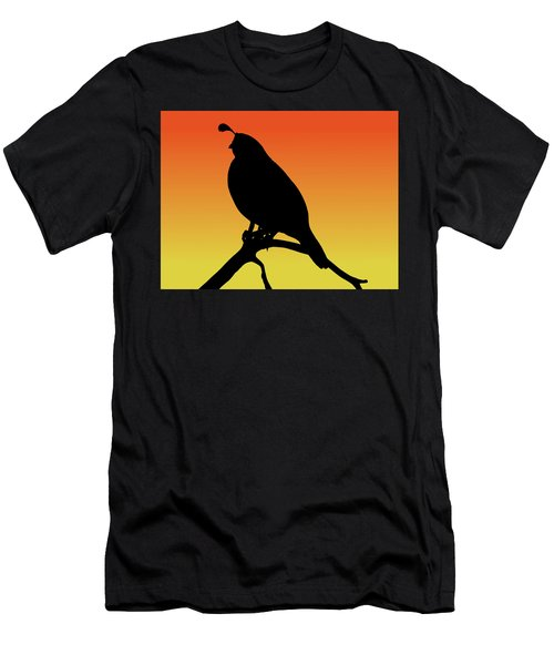 Quail Silhouette At Sunset Men's T-Shirt (Athletic Fit)