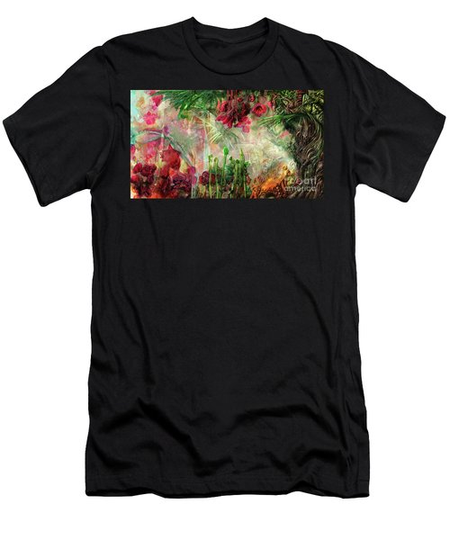 Men's T-Shirt (Slim Fit) featuring the digital art Qualia's Jungle by Russell Kightley