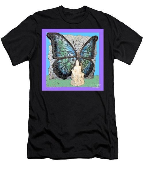 Quan Yin Butterfly Men's T-Shirt (Athletic Fit)