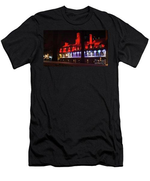Quebec City At Night Bistro 1640 Men's T-Shirt (Athletic Fit)