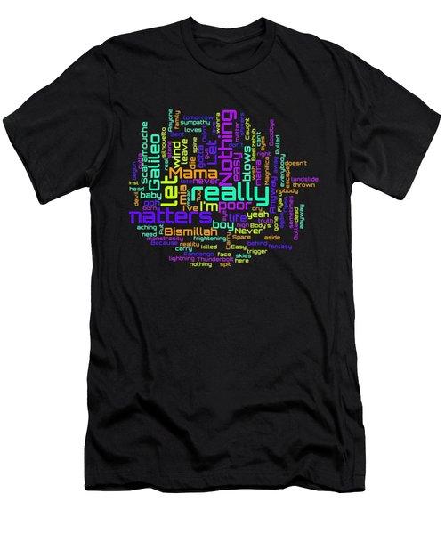 Queen - Bohemian Rhapsody Lyrical Cloud Men's T-Shirt (Athletic Fit)