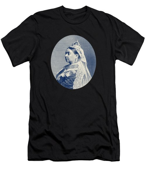 Queen Victoria Engraving - Her Majesty The Queen Men's T-Shirt (Athletic Fit)