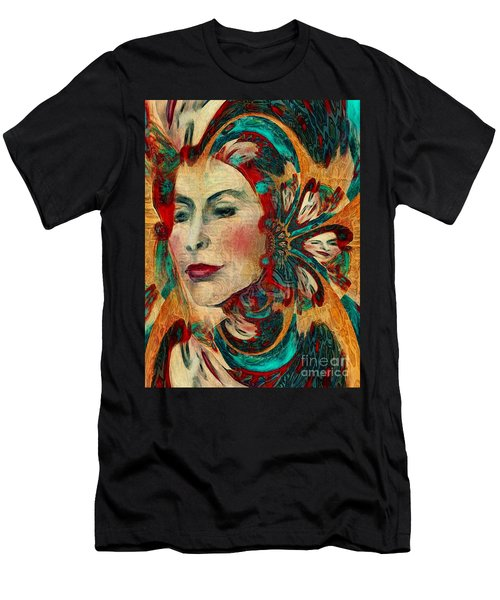 Men's T-Shirt (Slim Fit) featuring the digital art Queenie by Alexis Rotella