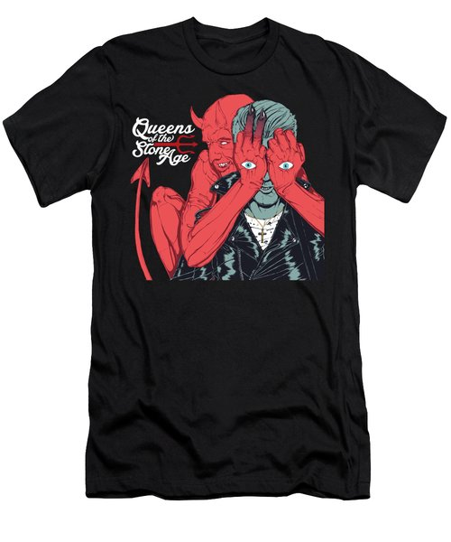Queens Of The Stone Age Men's T-Shirt (Athletic Fit)
