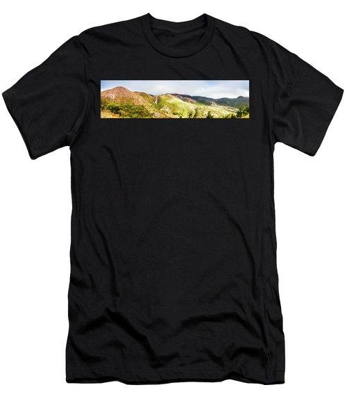 Queenstown Tasmania Wide Mountain Landscape Men's T-Shirt (Athletic Fit)
