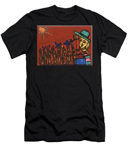 Queuing For Residuals  Men's T-Shirt (Slim Fit) by Darrell Black