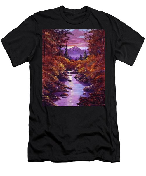Quiet Autumn Stream Men's T-Shirt (Athletic Fit)