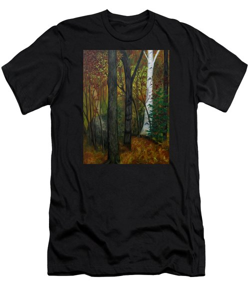 Quiet Autumn Woods Men's T-Shirt (Athletic Fit)
