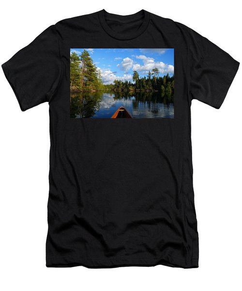 Quiet Paddle Men's T-Shirt (Slim Fit) by Larry Ricker