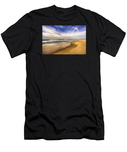 Men's T-Shirt (Athletic Fit) featuring the photograph Quiet Reflections Of Hermosa by Michael Hope