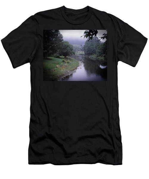 Quiet Stream- Woodstock, Vermont Men's T-Shirt (Athletic Fit)