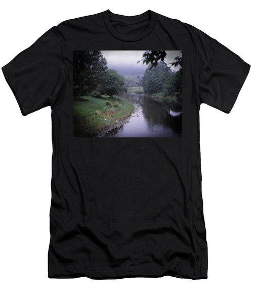 Quiet Stream- Woodstock, Vermont Men's T-Shirt (Athletic Fit)