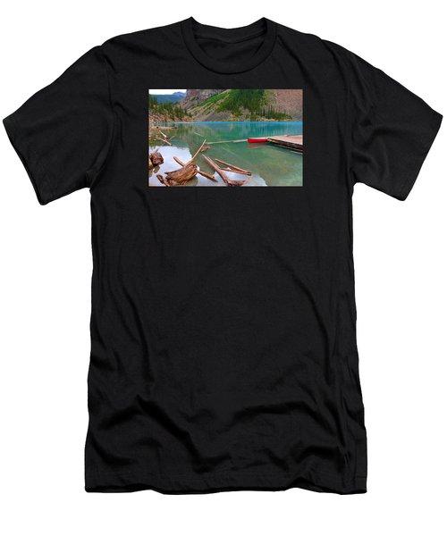Moraine Lake I, Alberta Men's T-Shirt (Athletic Fit)